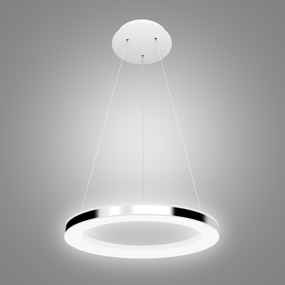 Modern simple led pendant light acrylic led circle pendant for Simple suspension hanging