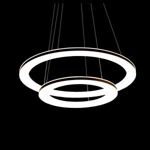 Modern Simple Acrylic LED Circle Pendant Light 2-light