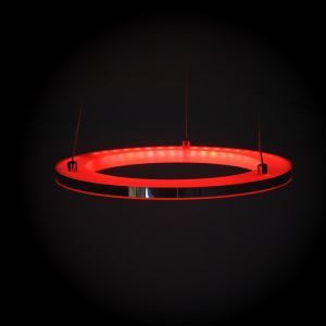 Modern Simple Acrylic LED RGB Circle Pendant Light
