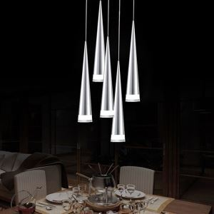 Modern Simple Acrylic LED Pendant Light 5-light