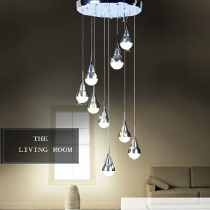 (In Stock)Modern Simple Acrylic LED Pendant Light 9-light Ceiling Lights Energy Saving