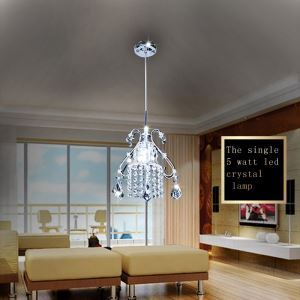 Modern Simple LED Crystal Pendant Light 1-light Ceiling Lights