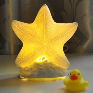 Modern Creative LED Bedroom Beside Lamp Ceramic Eye-protection Table Lamp