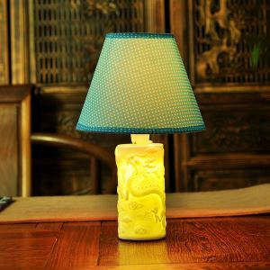 Fashion Creative Bedroom Beside Lamp Ceramic Eye-protection Table Lamp
