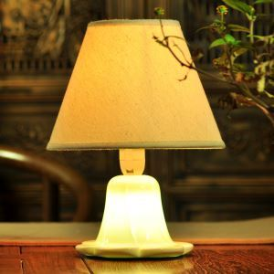 Fashion Creative Lotus Bedroom Beside Lamp Ceramic Eye-protection Table Lamp
