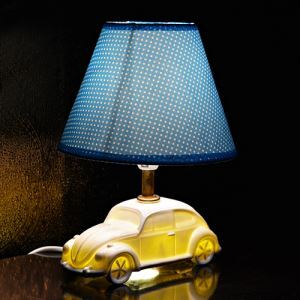 Fashion Creative Car Design Bedroom Beside Lamp Ceramic Eye-protection Table Lamp