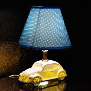 Fashion Creative Car Design Bedroom Beside Lamp Ceramic Eye-protection Table Lamp