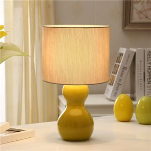 Fashion Bedroom Beside Lamp Ceramic Eye-protection Table Lamp