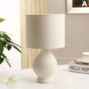 Creative White Bedroom Beside Lamp Ceramic Eye-protection Table Lamp