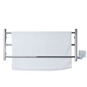 50W Stainless Steel Wall Mount Circular Tube Towel warmer Drying Rack