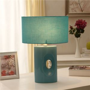 Mediterranean Style Bedroom Beside Lamp Ceramic Eye-protection Table Lamp