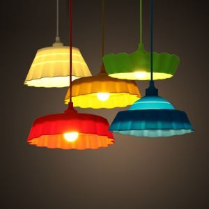 Ceiling Lights Collapsible Colorful Silicone Pendant Light
