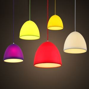 Creative Collapsible Colorful Silicone Pendant Light