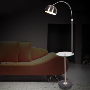 Creative Vertical Floor Lamp with Tea Table