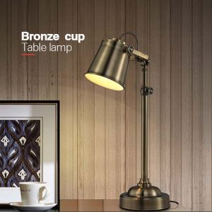 Retro Style Bronze Fancy Table Lamp