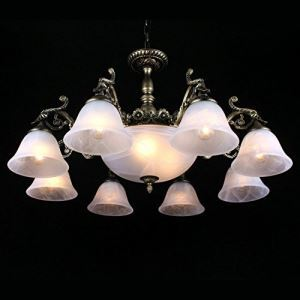Stylish Glass Chandeliers with 11 Lights in Antique Style