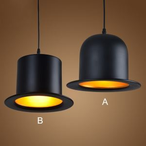 Artistic Aluminum  Pendant Light in Black Shade Black Chandelier