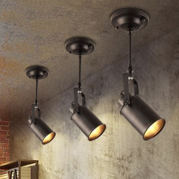 Industrial Retro Style Stoving Varnish Spot Light 1 Light