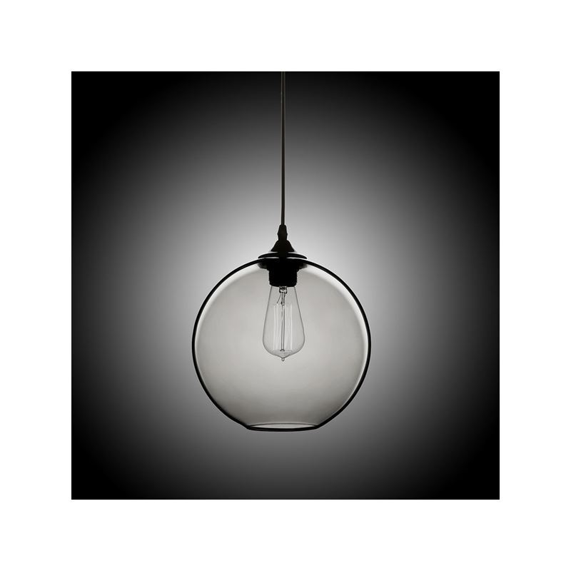 In Stock Modern Minimalist Glass Pendant Light Globe With 1 Silver