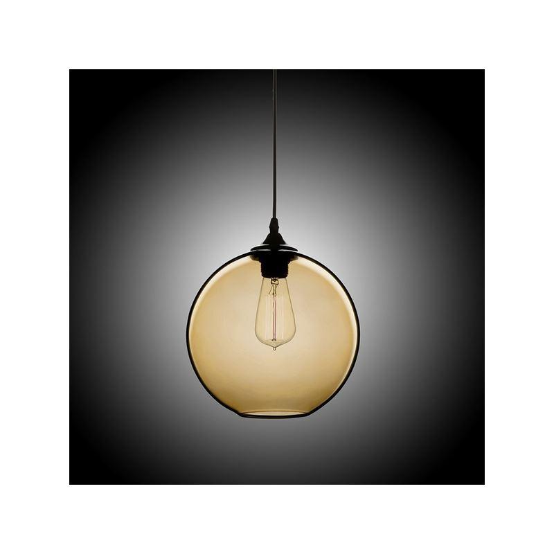 In stock modern minimalist glass pendant light globe pendant with 1 in stock modern minimalist glass pendant light globe pendant with 1 light amber color aloadofball Images