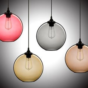 Ceiling Lights Modern Minimalist Glass Pendant Light Globe with 1 Light Dining Room Living Room Bedroom Lighting(Color of Love)