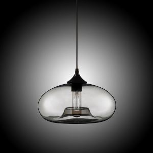 Modern Glass Pendant Light  Hand Blown Colorful Bell Shaded  with 1 Light Gray Dining Room Lighting Ideas Lighting Living Room Bedroom Ceiling Lights