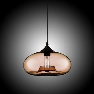 Modern Glass Pendant Light  Hand Blown Colorful Bell Shaded  with 1 Light Coffee Color Dining Room Lighting Ideas Living Room Bedroom Lighting(Color of Love)