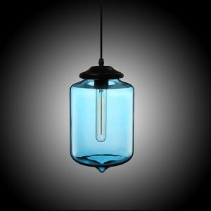 (In Stock)Modern Transparent Glass Pendant Light  Hand Blown Colorful with 1 Light Dining Room Living Room Bedroom Ceiling Lights