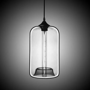 Modern Transparent Glass Pendant Light  Hand Blown Colorful with 1 Light Plain Color Dining Room Lighting Ideas Living Room Bedroom Lighting