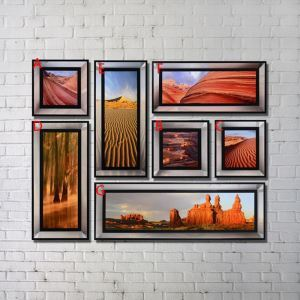Contemporary Wall Art Scenery Print with Black Frame