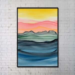 Contemporary Wall Art Sunset Abstract Printing without Frame 32'*48' C