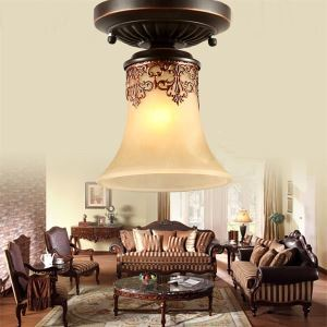 Flush Mount Vintage  Country  Island Living Room  Bedroom  Dining Room  Kids Room  Hallway Metal