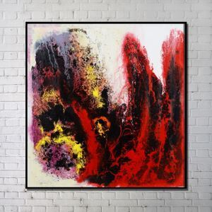 Contemporary Wall Art Red Abstract Printing without Frame 40'*40'