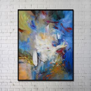 Contemporary Wall Art Colorfull Finsh Abstract Printing without Frame 36'*48'