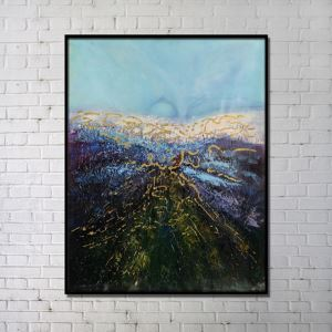 Contemporary Wall Art Marsh Abstract Print without Frame 36'*48' A