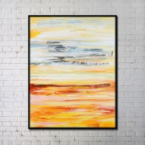 Contemporary Wall Art Marsh Abstract Print without Frame 36'*48' D
