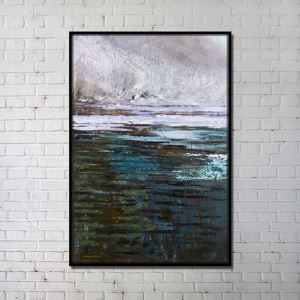 Contemporary Wall Art Marsh Abstract Print without Frame 32'*48' E