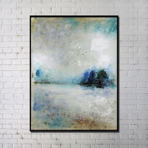 Contemporary Wall Art Riverside Abstract Print without Frame 36'*48'