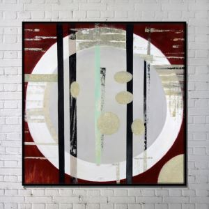 Contemporary Wall Art Circles Abstract Wall Print without Frame 40'*40'