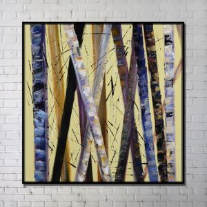 Contemporary Wall Art Trunk Abstract Wall Print with Black Frame 40'*40'