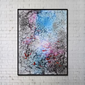 Contemporary Wall Art Underwater World Abstract Wall Print without Frame 28'*40' A