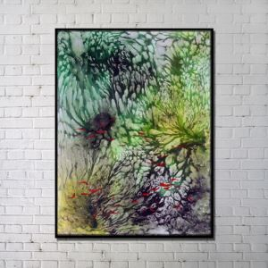 Contemporary Wall Art Underwater World Abstract Wall Print without Frame 28'*40' D