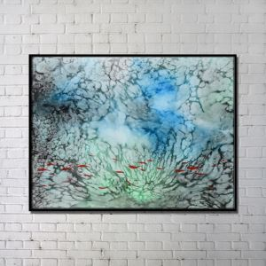 Contemporary Wall Art Underwater Abstract Wall Print without Frame 40'*28' E