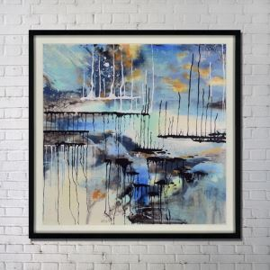 Contemporary Wall Art Ink Abstract Wall Print without Frame 48'*48' A