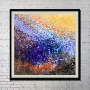 Contemporary Wall Art Ink Abstract Wall Print without Frame 48'*48' B