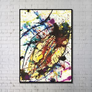 Contemporary Wall Art Colored Abstract Wall Print without Frame 36'*48' B