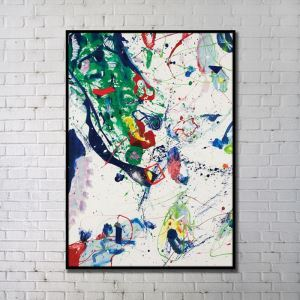 Contemporary Wall Art Colored Abstract Wall Print without Frame 36'*48' C