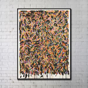Contemporary Wall Art Multi-color Abstract Wall Print without Frame 48'*60' A