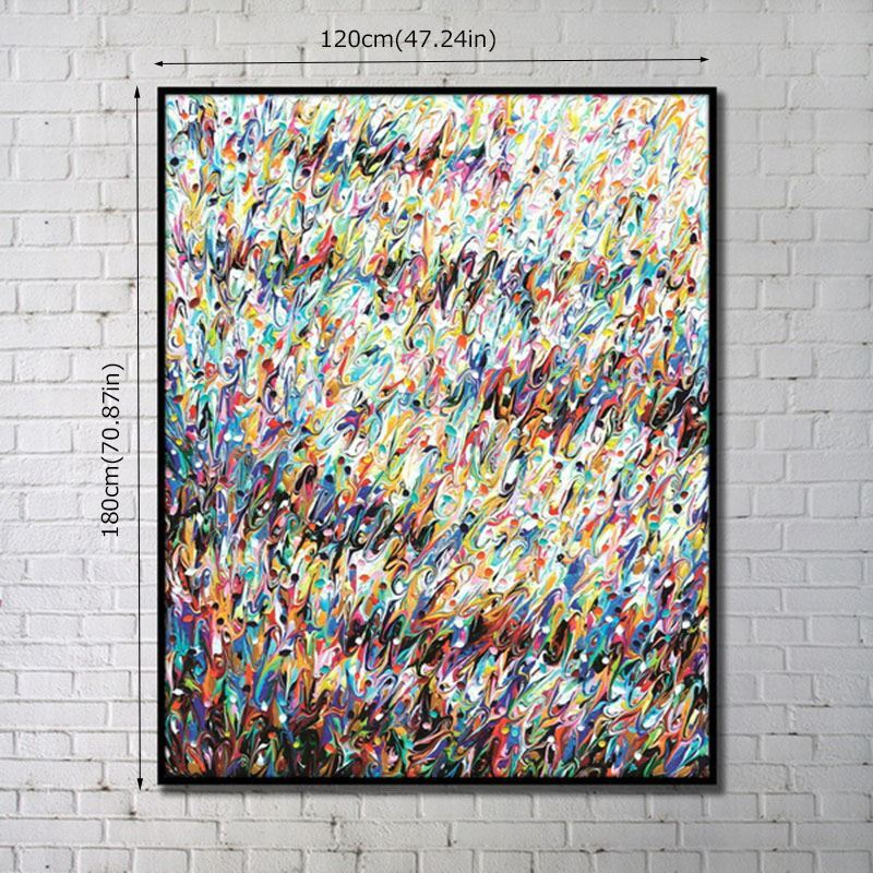 home decor wall art prints contemporary wall art multi color abstract wall - Multi Frame Wall Art