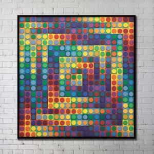 Contemporary Wall Art Colorfu Dots Abstract Wall Print without Frame 40'*40' A